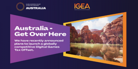image with copy Australia get over here